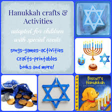 adaptive hanukkah and dreidel activities for kids with special