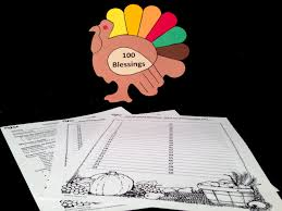 one hundred blessings and thanksgiving lesson plan and