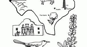 texas symbols coloring pages coloring