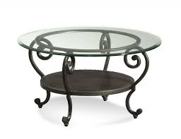 coffee table best 10 round glass top coffee table wrought iron
