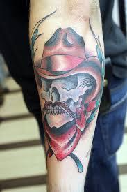 cowboy skull tattoos cool tattoos bonbaden