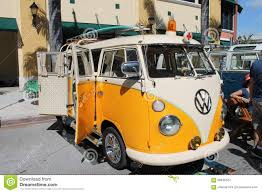 old volkswagen yellow old vw ambulance editorial stock image image 58646324