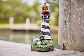 Lighthouse Bathroom Accessories Breakwater Bay Groton Solar Powered Garden Lighthouse Decorative