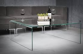 glass furniture amazon com euro style ginny modern bent glass square coffee table