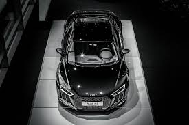 Audi R8 Blacked Out - stunning black 2016 audi r8 v10 at audi center frankfurt gtspirit