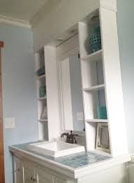 Can Lights In Bathroom White Vanity Hutch With Recessed Lights Diy Projects