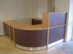 Large Reception Desk Flex Large Polo Reception Desk Shown In Beech With Burgundy