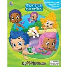 bubble guppies busy board book figurine figures playmat ages 3