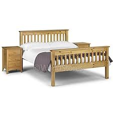 worldstores 4ft6 double bed frame monaco bedstead pine bed