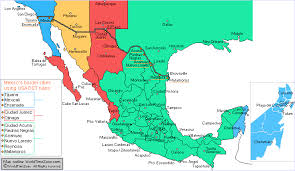 map of time zones usa and mexico mexican time zones map maps map usa images free