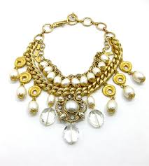 gold statement necklace jewelry images Statement necklace pearls and gold reclaimed jpg