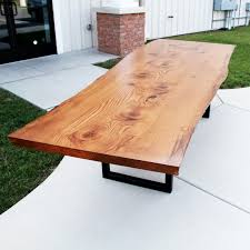 Live Edge Conference Table Live Edge Pin Oak Table Solid Hardwood Furniture Locally