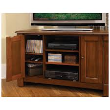 home styles the aspen collection rustic cherry corner tv stand