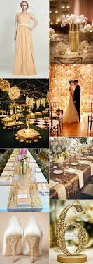 gold wedding theme 2016 wedding color trend 4 most loved metallic color palettes