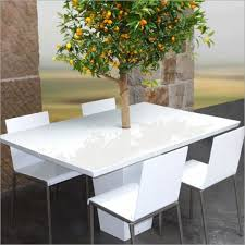 cool dining tables with integrated small trees by mezza style