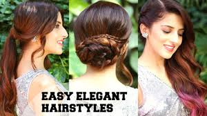 3 easy elegant romantic hairstyles indian party hairstyles for