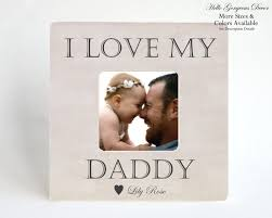 gift to father new dad picture frame personalized from baby kids