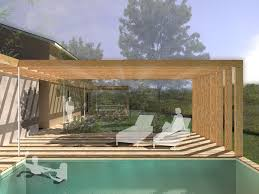 jardin paysager avec piscine extension et aménagement paysager extérieur à martillac