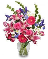floral arrangement majestic magenta floral arrangement in emmetsburg ia blossoming