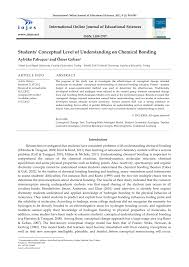 students u0027 conceptual level of understanding on chemical bonding