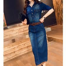 aliexpress com buy spring new 2017 casual rivet jeans dress