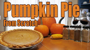 how to make pumpkin pie from scratch youtube