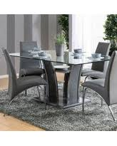 Tempered Glass Dining Table Savings On Glenview Collection Cm8372wh T Table 72