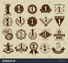 Number One Vintage Retro Number One 1 Seals Stock Vector 317342945 Shutterstock