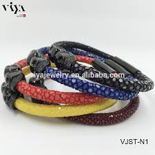 man black leather bracelet images 2016 new design black python leather bracelet handmade braid man jpg