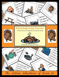 social story for students with autism thanksgiving dinner