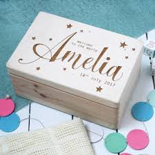 personalized keepsake boxes baby memory box