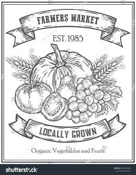 organic product food store farmers market stock illustration