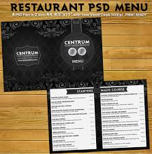 5 course menu template stylish restaurant psd menu template psdbucket