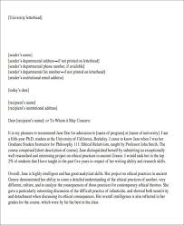 letter of recommendation format sle formal letter of recommendation 8 exles in word pdf