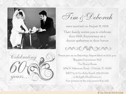 60th anniversary invitations fashionable 60th anniversary photo invitation vintage wedding sixty