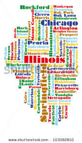 illinois map usa illinois map stock images royalty free images vectors