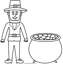 coloring page leprechaun hat free coloring pages for kids
