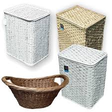 cane laundry hamper bamboo seagrass wicker laundry basket lid white woven clothing