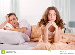 unhappy young couple in bedroom stock photos image 17211153