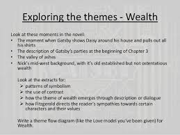 Themes Of Wealth In The Great Gatsby | the great gatsby chapters 4 and 5