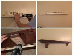 diy faux mantel shelf install
