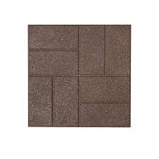 Recycled Tire Patio Tiles by Shop Rubberific Brown Paver Common 16 In X 16 In Actual 16 In