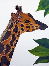 art deco giraffe ring holder images Custom giraffe nursery art safari zoo animal jungle theme kids jpg