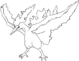 moltres legendary pokemon coloring pages coloringstar