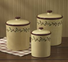 primitive kitchen canister sets thistleberry canisters by park designs set of three vine pip