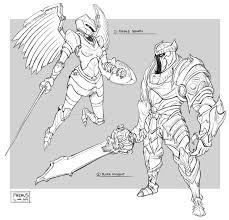 armour sketches by freakyfir on deviantart