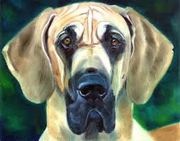 Great Dane Home Decor Great Dane Nobility Painting By Lyn Cook
