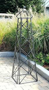 galvanised steel garden obelisks photo via