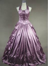 light purple satin halter victorian ball gown cheap gothic