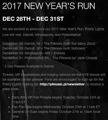 pretty lights nye tickets pretty lights officially announces nye 2017 shows releases
